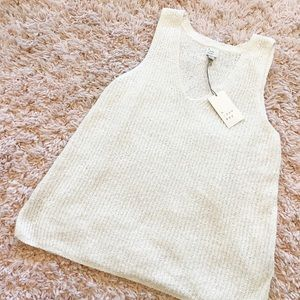 NWT A New Day White Knit V-Neck Slouchy Tank Top